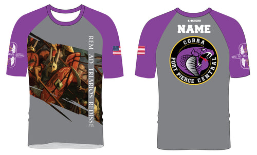 Fort Pierce Cobras Wrestling Sublimated Fight Shirt Design 1 - 5KounT