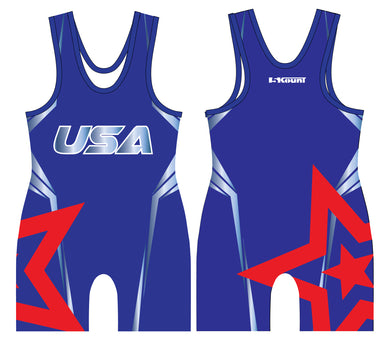 Freestyle Sublimated Singlet- Star/Blue