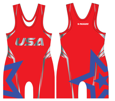 Freestyle Sublimated Singlet- Star/Red
