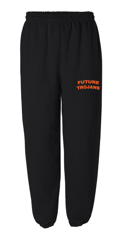 Future Trojans Wrestling Cotton Sweatpants - Black