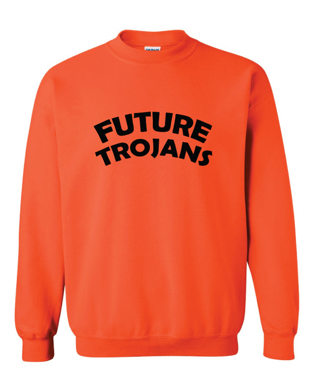 Future Trojans Wrestling Crewneck Sweatshirt - Orange - 5KounT