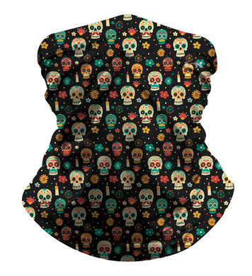 MEXICAN SKULL SUBLIMATED GAITER MASK