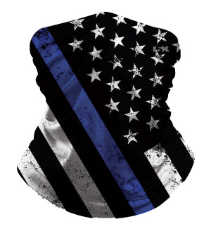 POLICE FLAG SUBLIMATED GAITER MASK - 5KounT2018