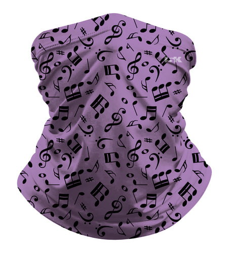 PURPLE MUSIC SUBLIMATED GAITER MASK - 5KounT2018