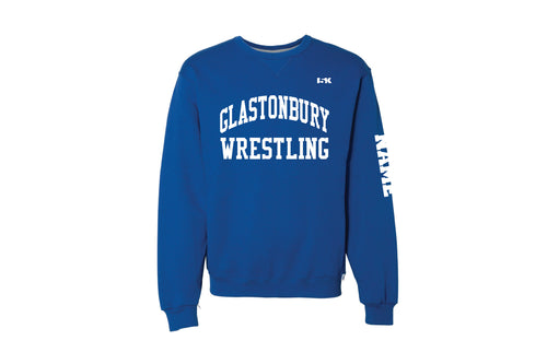 Glastonbury Wrestling Russell Athletic Cotton Crewneck Sweatshirt - Royal Blue - 5KounT2018