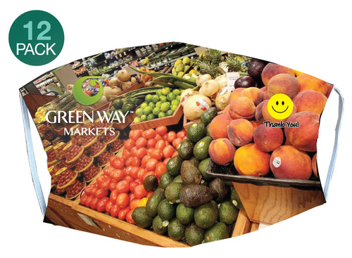 Green Way Markets Mask - 12 pack - 5KounT2018