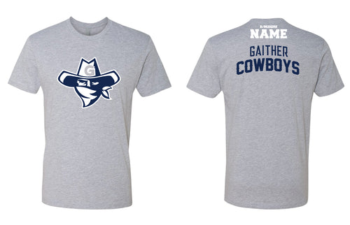Gaither HS Cowboys Wrestling Cotton Crew Tee - Heather Grey - 5KounT