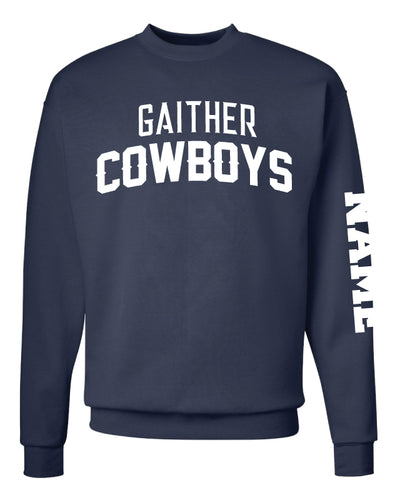 Gaither HS Cowboys Wrestling Crewneck Sweatshirt - Navy - 5KounT