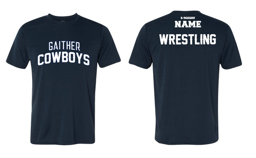 Gaither HS Cowboys Wrestling DryFit Performance Tee - Navy - 5KounT