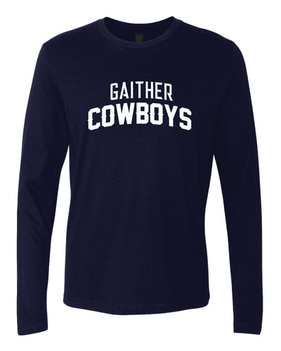 Gaither HS Cowboys Wrestling Long Sleeve Cotton Crew - Navy - 5KounT2018