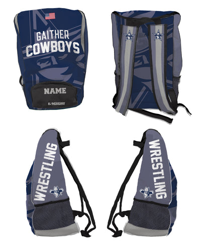Gaither HS Cowboys Wrestling Sublimated Backpack - 5KounT