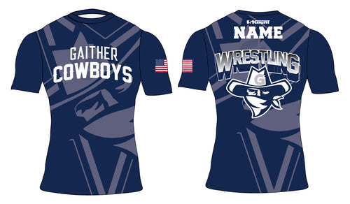 Gaither HS Cowboys Wrestling Sublimated Compression Shirt - 5KounT