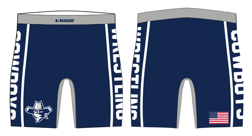 Gaither HS Cowboys Wrestling Sublimated Compression Shorts - 5KounT