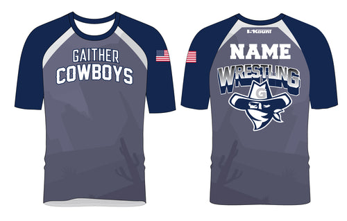 Gaither HS Cowboys Wrestling Sublimated Fight Shirt - 5KounT2018