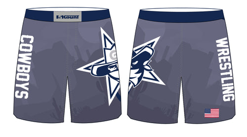 Gaither HS Cowboys Wrestling Sublimated Fight Shorts - 5KounT2018