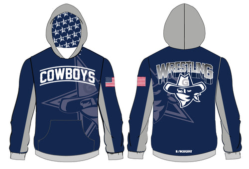 Gaither HS Cowboys Wrestling Sublimated Hoodie - 5KounT2018