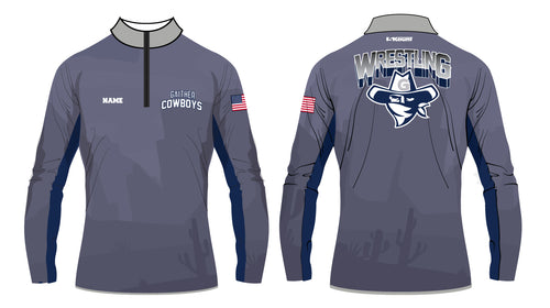 Gaither HS Cowboys Wrestling Sublimated Quarter Zip - 5KounT