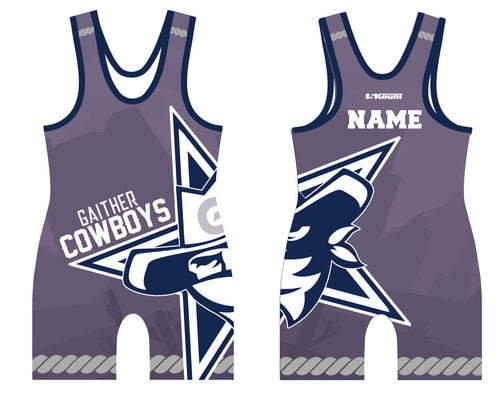 Gaither HS Cowboys Wrestling Sublimated Singlet - 5KounT