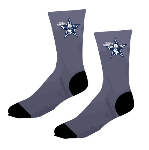 Gaither HS Cowboys Wrestling Sublimated Socks - 5KounT
