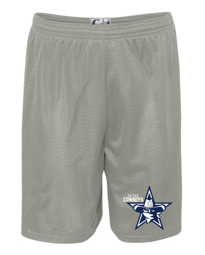 Gaither HS Cowboys Wrestling Tech Shorts - Silver - 5KounT