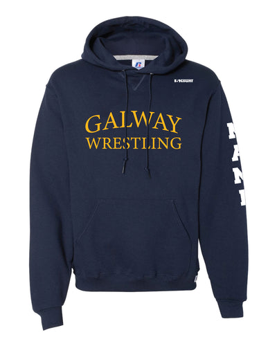 Galway Wrestling Russell Athletic Cotton Hoodie - Navy - 5KounT2018
