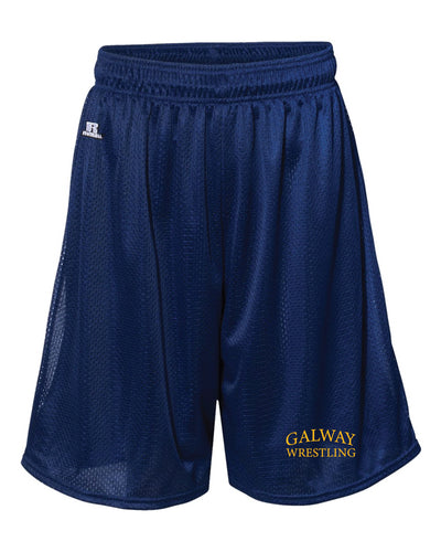 Galway Wrestling Russell Athletic  Tech Shorts - Navy - 5KounT2018