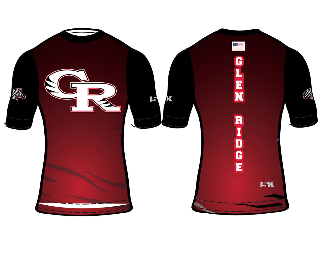 Glen Ridge Youth Wrestling Sublimated Compression Shirt - 5KounT2018