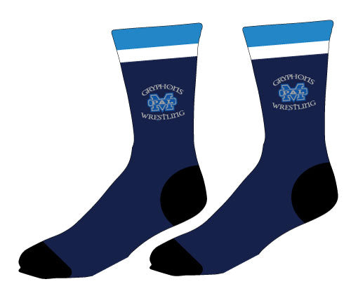 Gryphons Wrestling Sublimated Socks