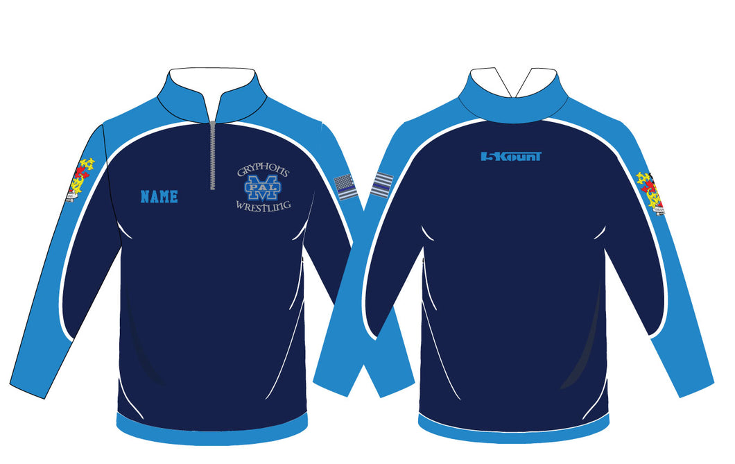 Gryphons Sublimated Quarter Zip - Mesh