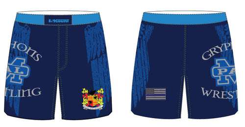 Gryphons Wrestling Sublimated Fight Shorts