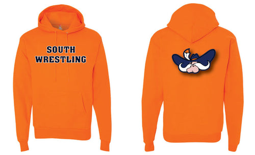 South Wrestling Cotton Hoodie - Orange - 5KounT