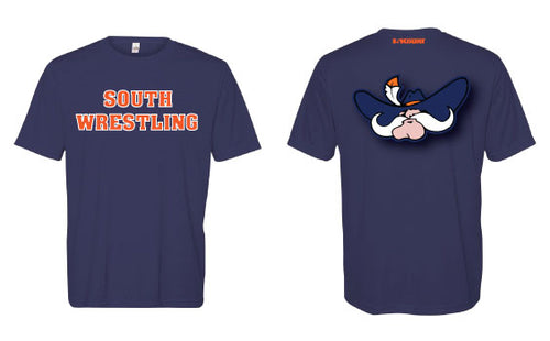 South Wrestling DryFit Performance Tee - Navy - 5KounT