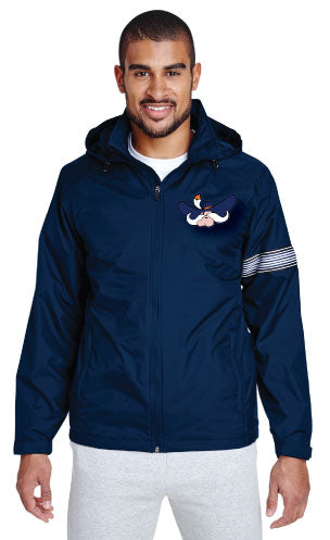 South Wrestling All Season Hooded Jacket - Navy - 5KounT