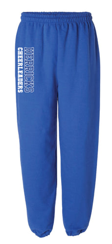 Herricks Cheer Cotton Sweatpants - Royal