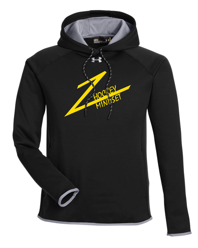 Hockey Mindset Under Armour Men's Double Threat Armour  Fleece Hoodie - Black