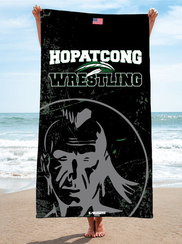 Hopatcong Wrestling Sublimated Beach Towel