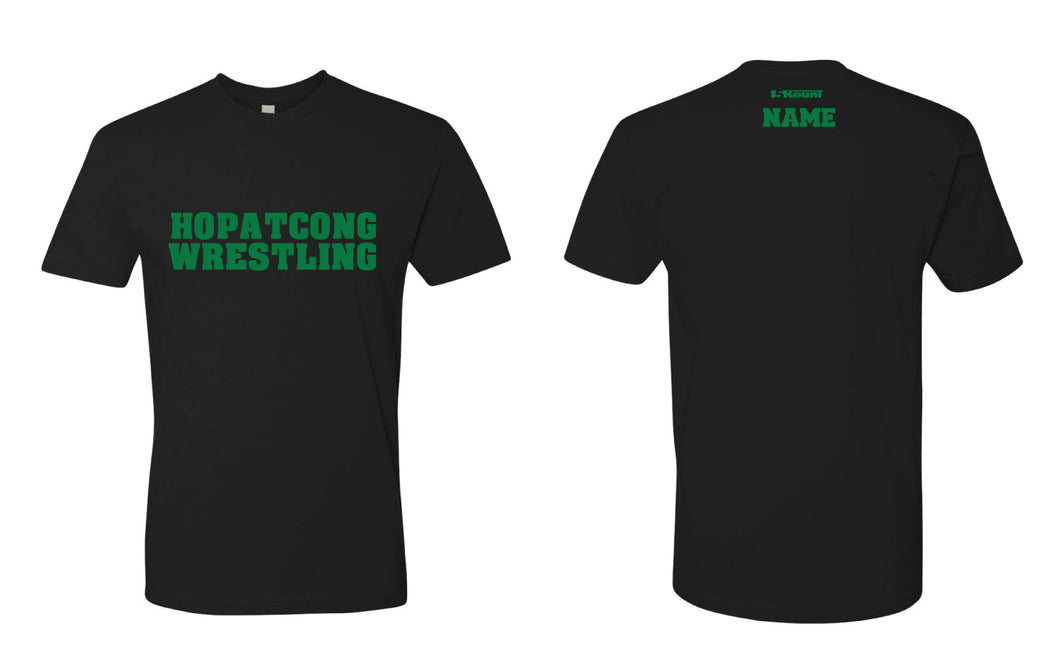 Hopatcong Wrestling Unisex Cotton Crew Tee - Black