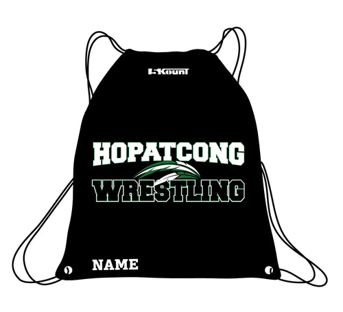 Hopatcong Wrestling Sublimated Drawstring Bag