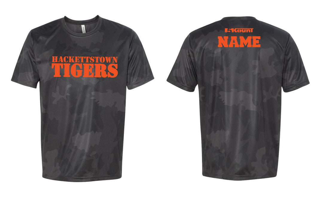 Hackettstown Tigers Laser Camo Tech Tee - 5KounT2018