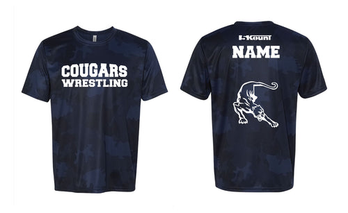Hampton Wrestling Laser Camo Tech Tee - Navy
