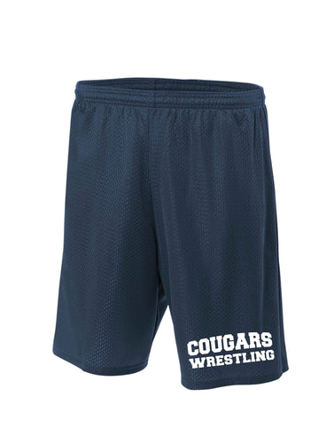 Hampton Wrestling Tech Shorts - Navy