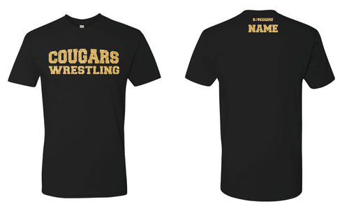 Hampton Wrestling Glitter Cotton Crew Tee - Black