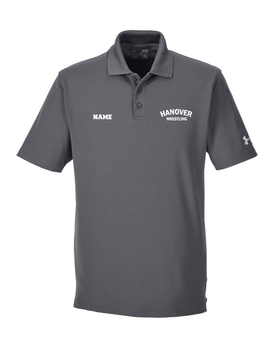 Hanover Township Under Armour Men's Corp Performance Polo - Graphite - 5KounT2018