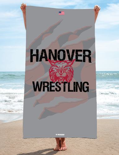 Hanover Township Wrestling Sublimated Beach Towel - 5KounT2018