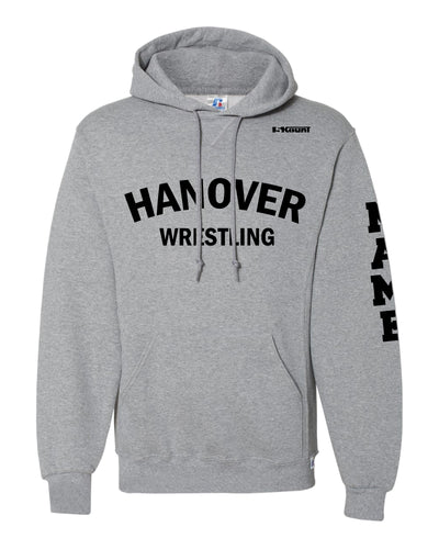 Hanover Township Wrestling Russell Athletic Cotton Hoodie - Grey - 5KounT2018