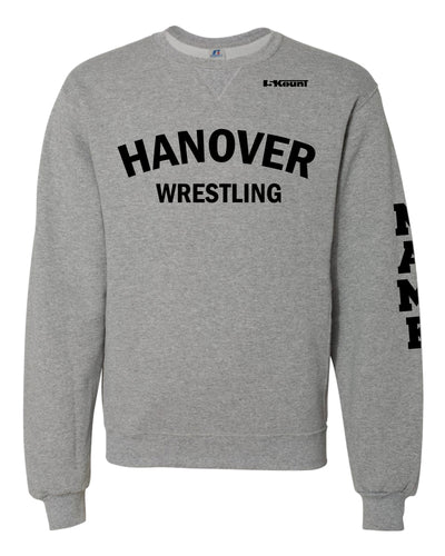 Hanover Township Wrestling Russell Athletic Cotton Crewneck Sweatshirt - Grey - 5KounT2018