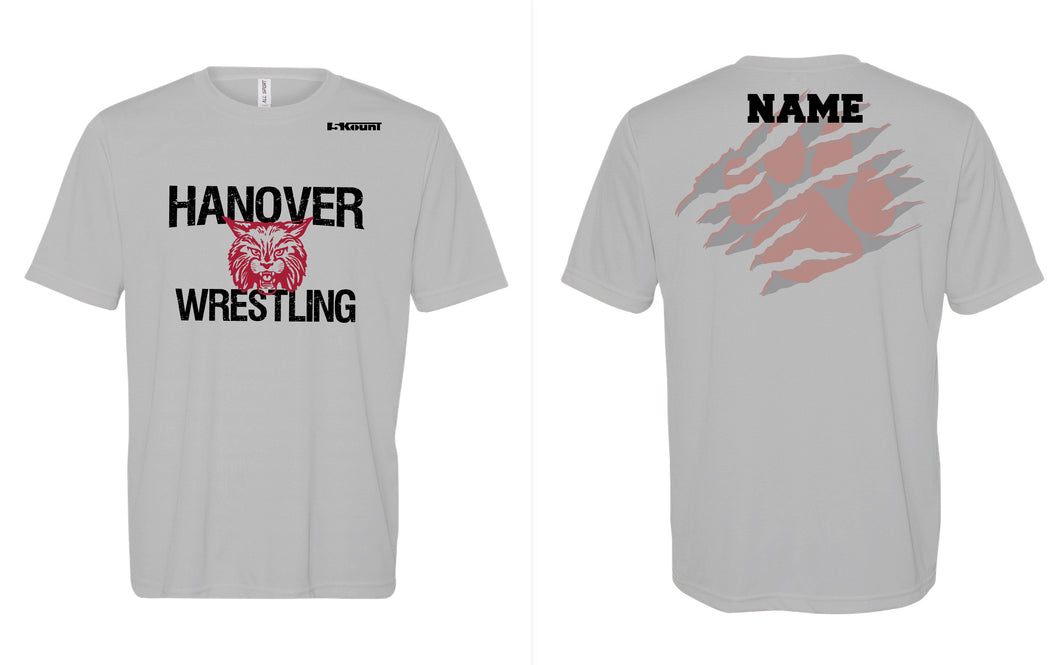 Hanover Township Wrestling Dryfit Performance Tee - Silver