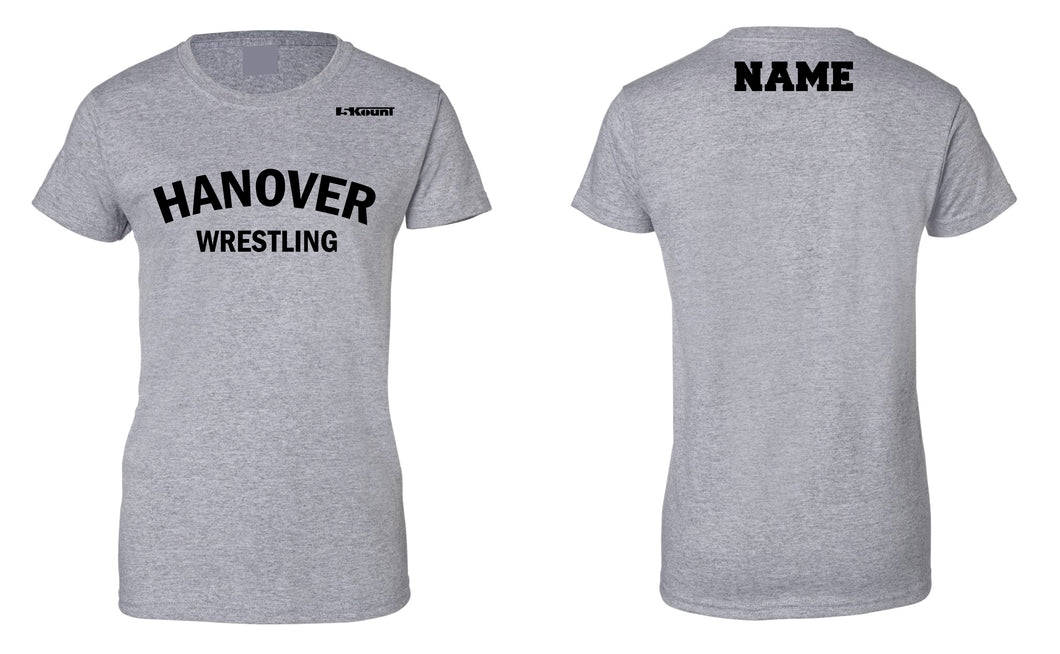 Hanover Township Wrestling Cotton Women's Crew Tee - Grey