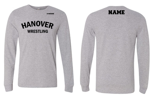 Hanover Township Wrestling Cotton Long Sleeve - Grey - 5KounT2018
