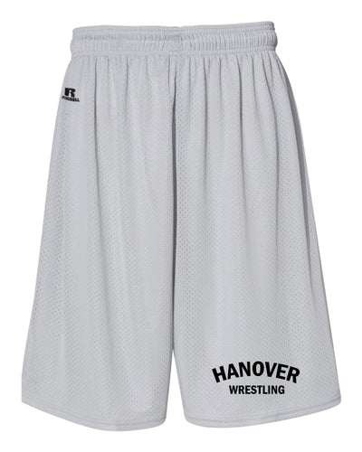 Hanover Township Wrestling Russell Athletic  Tech Shorts - Silver - 5KounT2018